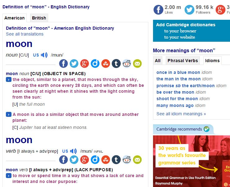 Cambridge Dictionaries Online - reference Resources